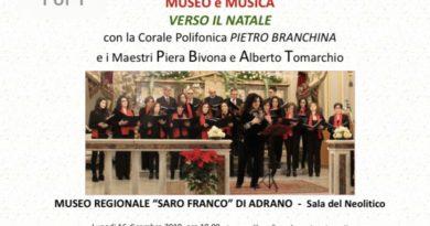 """NEWS   Il Museo """"Saro Franco"""" di Adrano (CT) presenta: """"Museo e Musica. Verso il Natale"""""""